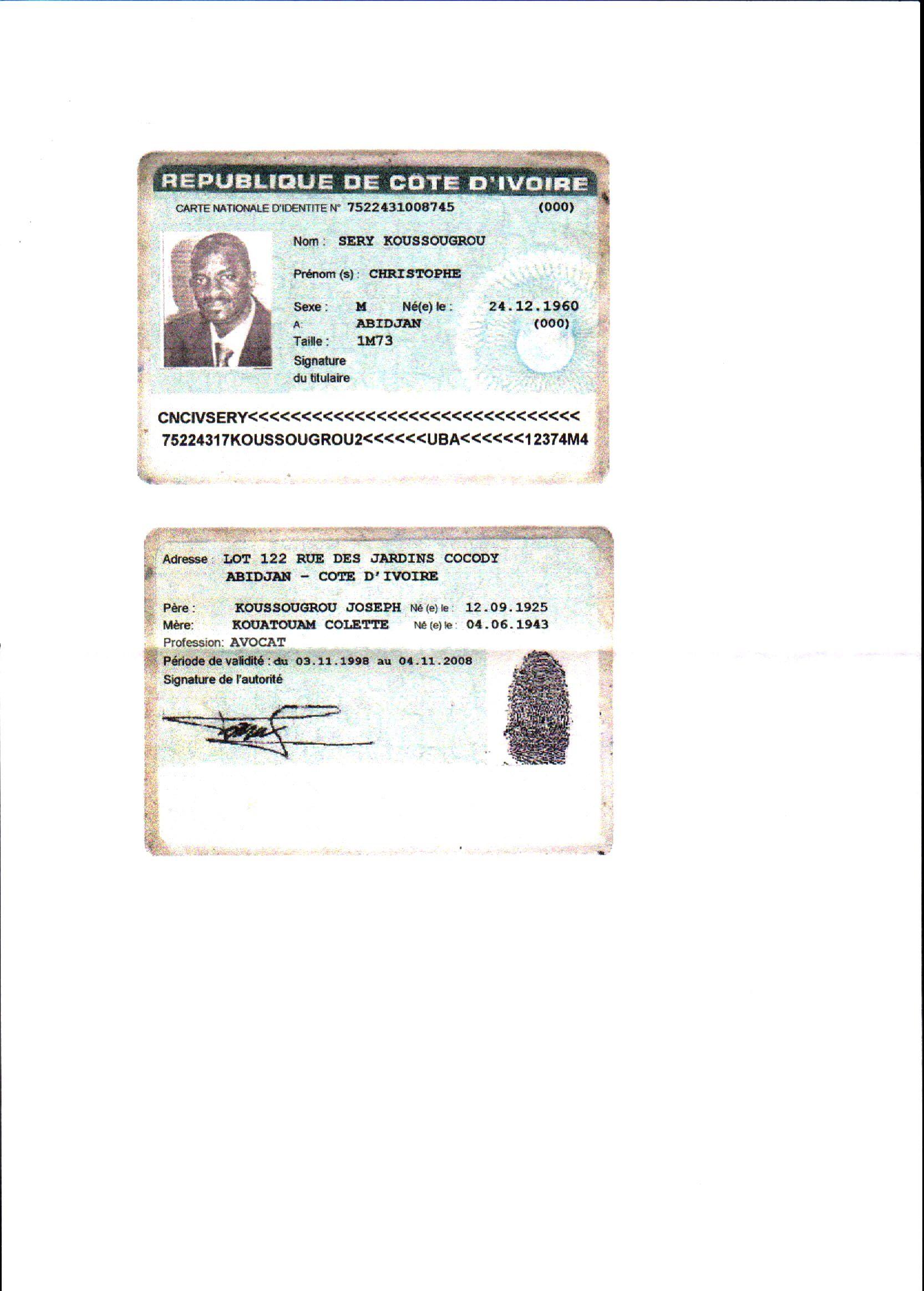 Arnaque en cote d 39 ivoire - Arnaque huissier de justice ...